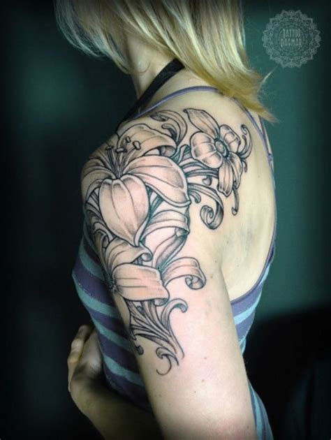 tattoo flower on arm 35 pretty lily flower tattoo designs for creative juice