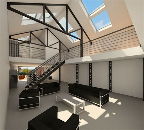 Garage Transformé En Loft by Jacques Lenain Architecte Lille Transformation D Un