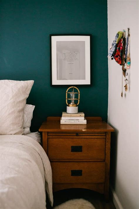teal feature wall bedroom bedroom idea for farmhouse house inspiration pinterest
