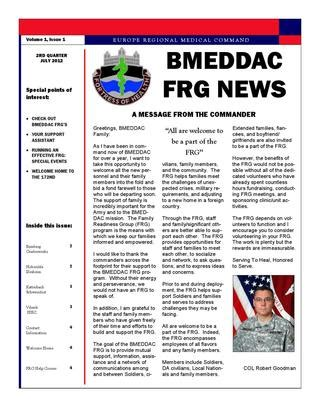 2nd Quarter Bmeddac Frg Newsletter By Frsa Bmeddac Issuu Army Frg Newsletter Template