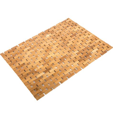 matt rug bamboo floor mat in shower and bath mats