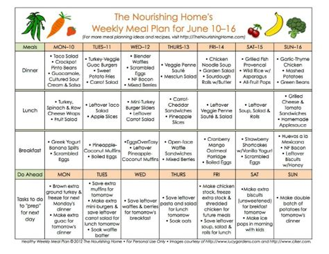 meal plan monday june 10 23 the nourishing home