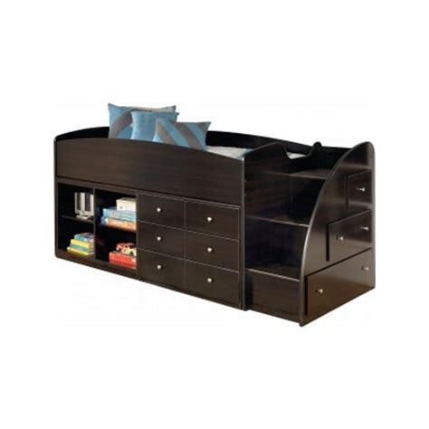 ashley embrace loft bed ashley embrace 4 cubby 6 drawer wood twin right loft bed in merlot b239 13r 17 19