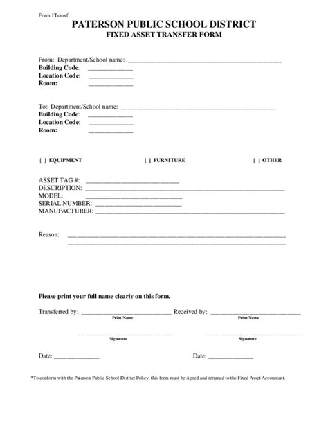 Asset Transfer Form - 4 Free Templates in PDF, Word, Excel Download