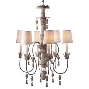 Distressed Chandelier Chandler Country Aged Distressed 6 Light