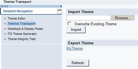 theme editor in sap portal sap portal theme css and layout files
