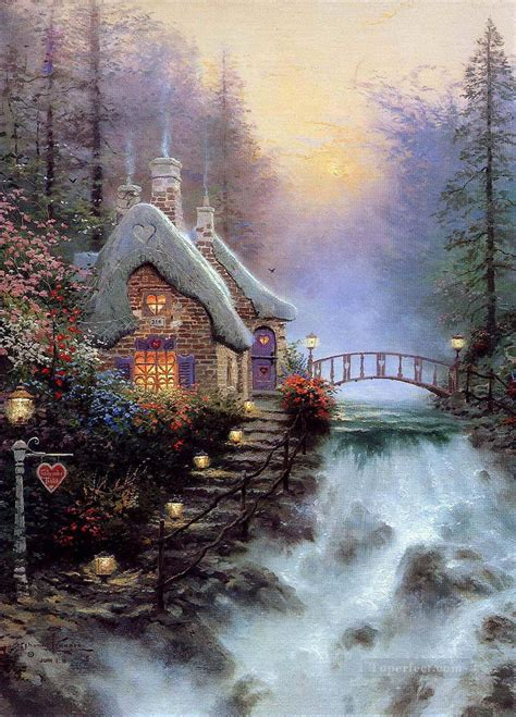 cottage paintings by kinkade sweetheart cottage ii kinkade painting in for sale
