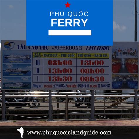 speed boat phu quoc rach gia phu quoc island ferry prices schedules departure times