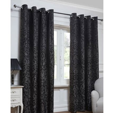 georgia curtains georgia textured leaf fully lined eyelet curtain 46 x 72 quot
