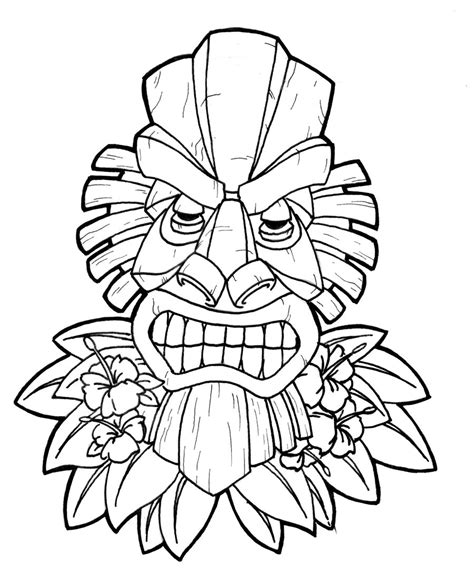 Hawaiian Pineapple Coloring Pages Coloring Pages Luau Coloring Pages
