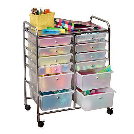12 drawer rolling cart honey can do crt 01683 12 drawer studio organizer cart