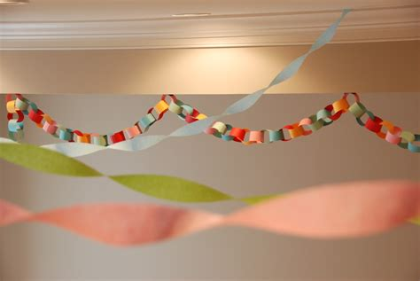 Paper Chain Decorations events mad science birthday