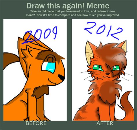 Warrior Cat Memes - firestar draw this again meme 2009 2012 by eliblazetheeevee on deviantart