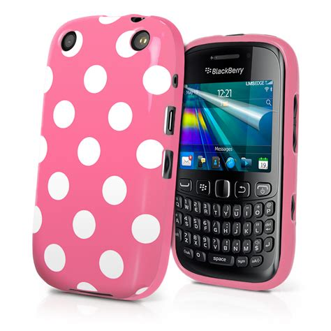 Casing Hp Bb Curve 9320 babypink polka dots gel cover for blackberry 9320 curve 9320 screen prote ebay