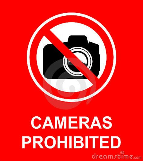 cameras prohibited sign royalty free stock photo image