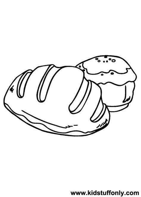 loaf of bread coloring pages