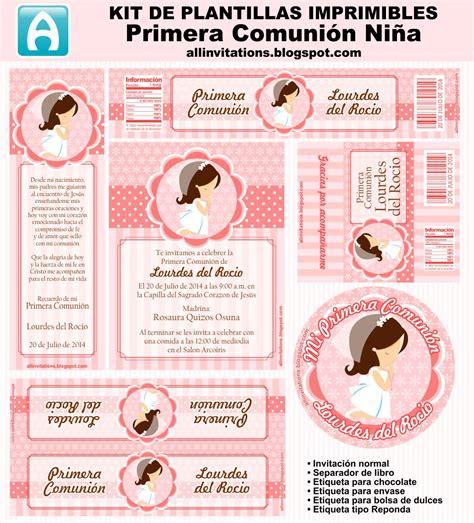imprimibles primera comunin gratis kit imprimible para primera comuni 243 n de ni 241 a en en tono