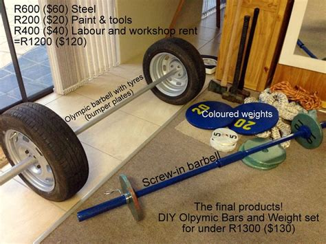 my home crossfit equipment custom diy 2m olympic tyre
