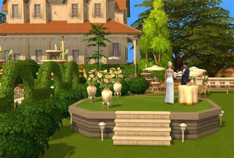sims 4 wedding off with the breeze wedding venue by fairycake89 at mod