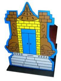 Mainan Puzzle 3d Terbuat Dari Kayu Castle maket rumah ibadah 3d vihara mainan kayu