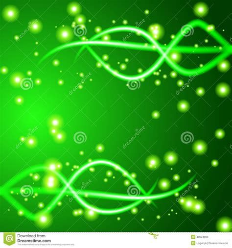 shiny wave abstract background green color stock