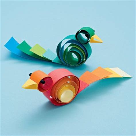 Easy Paper Folding Crafts For Children - curly birds paper crafts origami easy paper