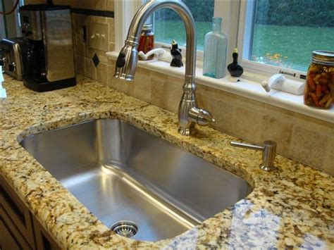 Kitchen Splash Guard Ideas by Seamless Sink In Granite Kitchen Setting Large Single Bowl