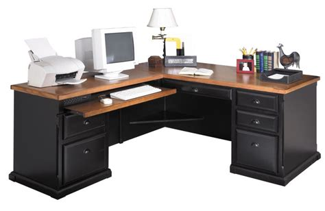 l shaped desk with hutch right return southton americana series l desk w hutch