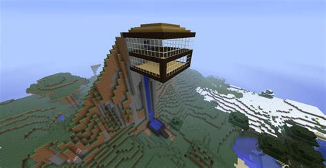 Mountain House Water by Mountain House Water Elevator Minecraft Project