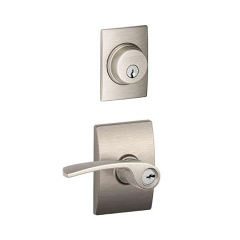 schlage merano single cylinder satin nickel century trim