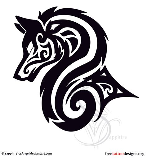 tribal wolf tattoo meaning tribal wolf tribal wolf wolf and