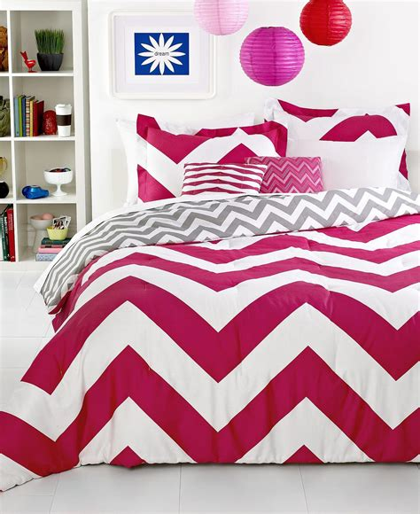 chevron bed sets chevron pink 5 piece comforter sets from macys room