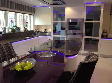 Interiors Weybridge by Led Lighting Installation Kitchen Island Interior Design