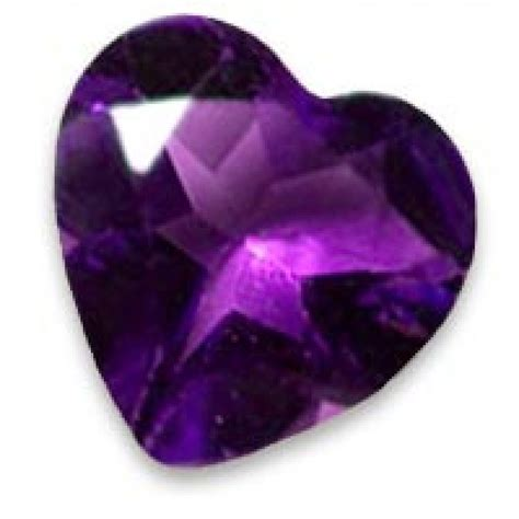 11mm african amethyst heart shaped gemstone