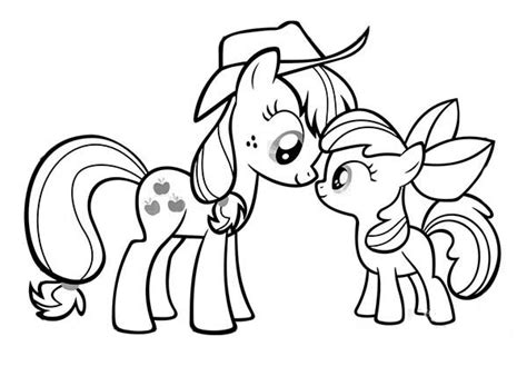 little pony applejack coloring pages my little pony applejack and apple bloom coloring page
