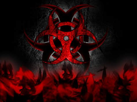 red biohazard wallpaper wallpapersafari