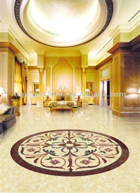 Classic waterjet marble tiles design floor pattern, View