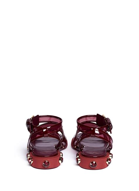 Heel Shoes Jelly lyst givenchy heel jelly sandals in