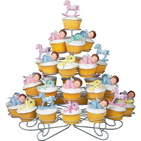 Baby Shower Cupcake Stand by Baby Shower Cupcakes Wilton