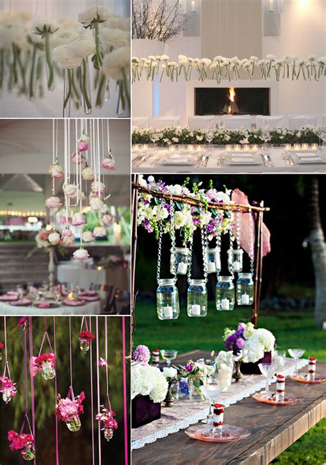 Unique Wedding Flower Ideas Hanging Centerpieces Onewed Com Original Ideas