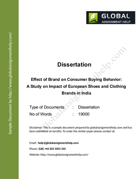 consumer behaviour dissertation dissertation consumer behaviour recession