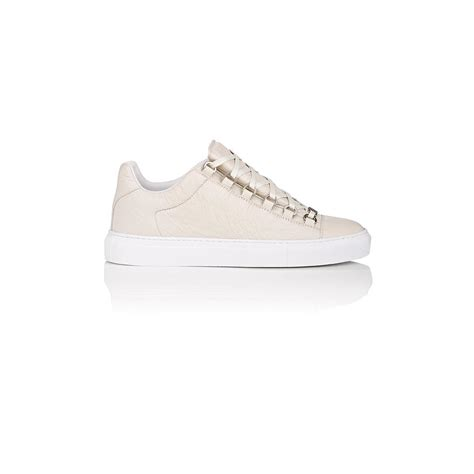 low top balenciaga sneakers balenciaga arena low top sneakers in white lyst