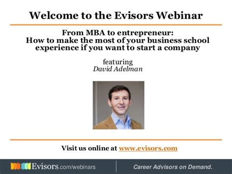 Entrepreneur Mba by From Mba To Entrepreneur
