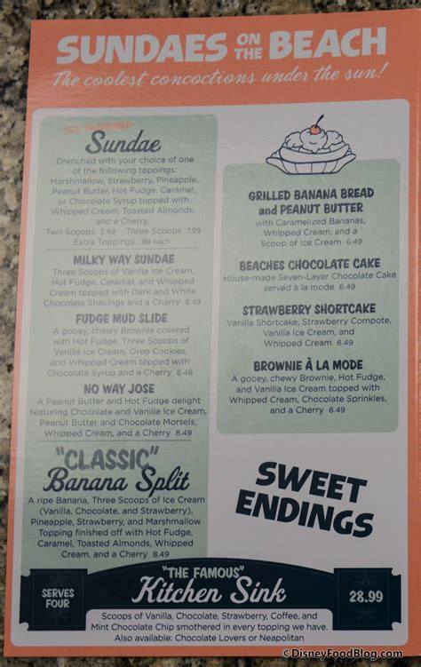 Onthelist The Kitchen Sink Sundae And Chocolate Lovers The Kitchen Sink Menu