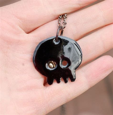 how to make copper enamel jewelry made skull necklace pendant copper enamel enameled