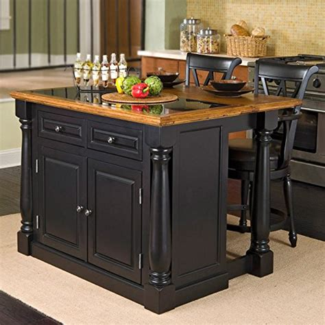 home styles monarch slide out leg kitchen island with