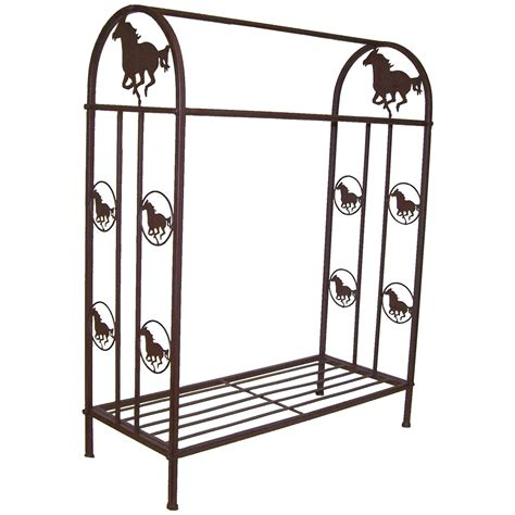 deleon collections metal quilt rack with design