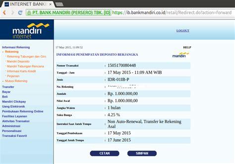 buat rekening bank mandiri online buka deposito melalui internet banking mandiri blog