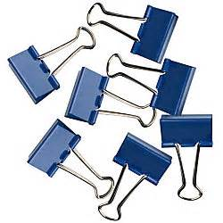 Binder Clip 155 1 Pak 12 Pc fashion binder 1 14 navy pack of 12 by office depot officemax