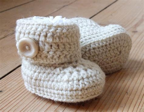 Crochet Pattern Uggs Baby Boots | baby ugg style boots crochet pattern crochet pinterest